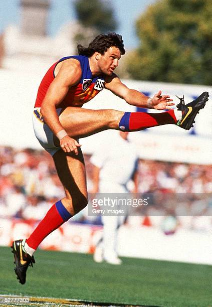 Paul Roos of the Fitzroy Lions in action during a VFL match played in Melbourne Australia