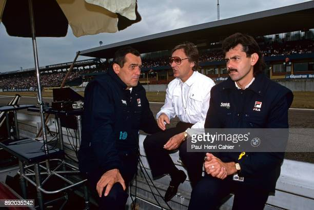Paul Rosceh Bernie Ecclestone Gordon Murray Grand Prix of Germany Hockenheimring 05 August 1984 Three heads of the BrabhamBMW team in 1984 Bernie...