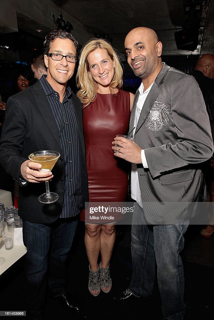 Paul Rothbard, Tiffany Carey and Vimal Murthy attend Los Angeles Confidential Magazine and Mary J. Blige celebrate the GRAMMYS at Elevate Lounge with Ciroc Premium Ultra Vodka on February 10, 2013 in Los Angeles, California.