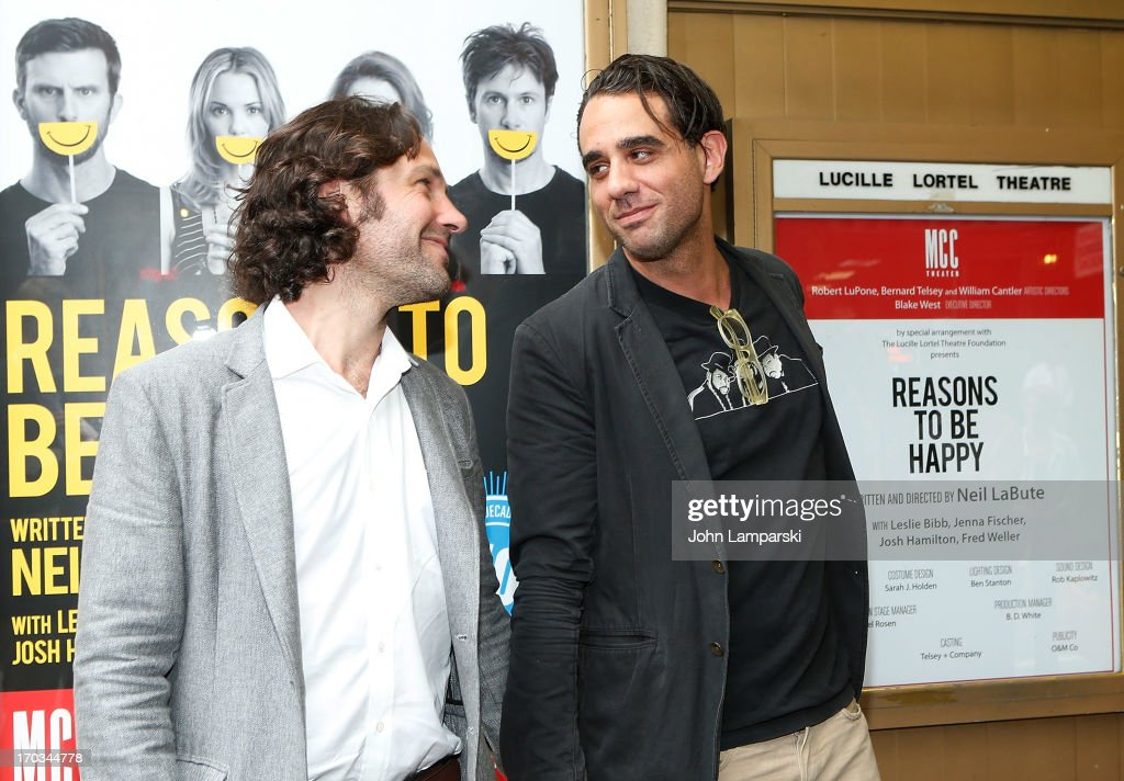 Paul Rudd and Bobby Cannavale attend 'Reasons To Be Happy' Broadway Opening Night at the Lucille Lortel Theatre on June 11, 2013 in New York City.