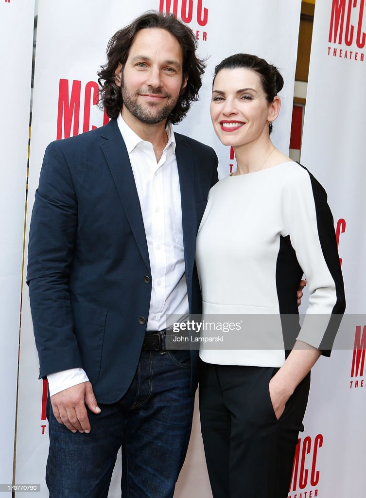 Paul Rudd and Julianna Margulies attend 'The Mercy Seat' Benefit Reading at Lucille Lortel Theatre on June 17 2013 in New York City
