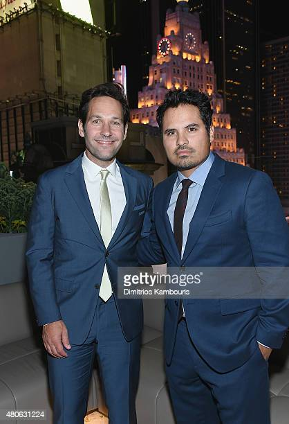 Paul Rudd and Michael Pena attend the after party for Marvel's screening of 'AntMan' hosted by The Cinema Society and Audi at St Cloud at the...
