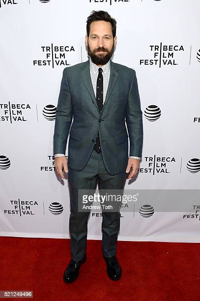 Paul Rudd attends 'Nerdland' Premiere 2016 Tribeca Film Festival at SVA Theatre on April 14 2016 in New York City