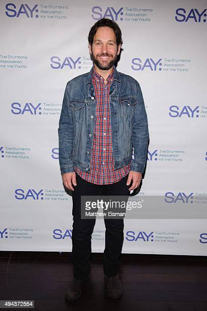Paul Rudd attends the 4th Annual AllStar Bowling Benefit supporting The Stuttering Association For The Young at Lucky Strike Lanes Lounge on October...