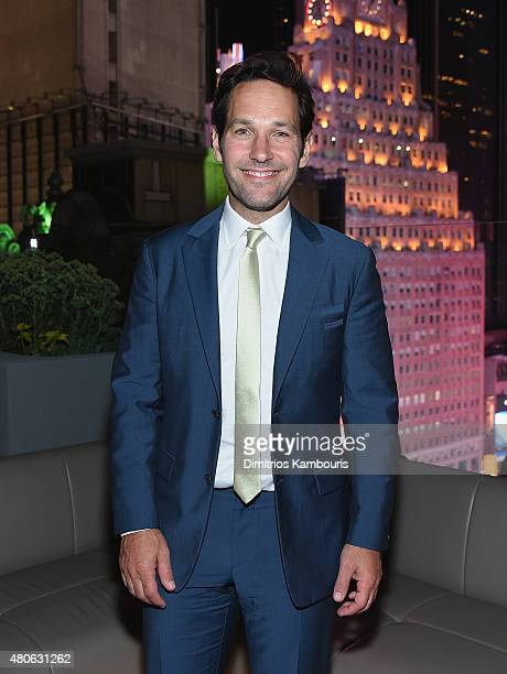 Paul Rudd attends the after party for Marvel's screening of 'AntMan' hosted by The Cinema Society and Audi at St Cloud at the Knickerbocker Hotel on...