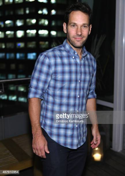 Paul Rudd attends The Cinema Society with Men's Fitness and FIJI Water special screening of Marvel's 'Guardians of the Galaxy' after party at The...