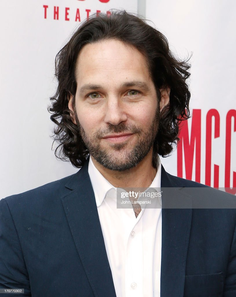 Paul Rudd attends 'The Mercy Seat' Benefit Reading at Lucille Lortel Theatre on June 17 2013 in New York City