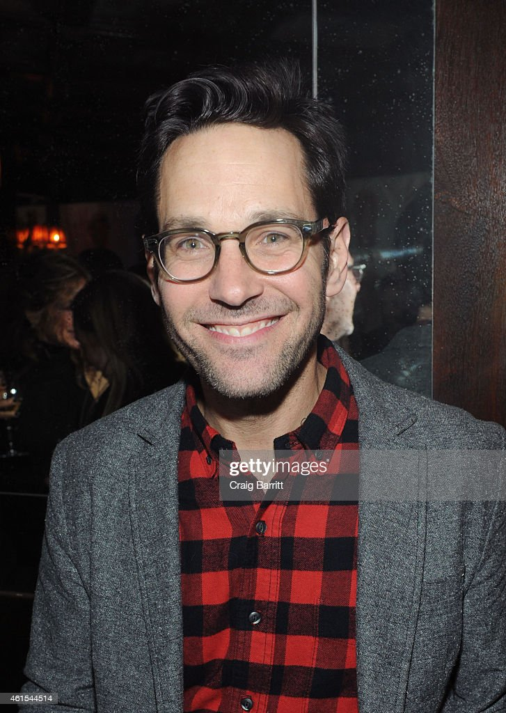<a gi-track='captionPersonalityLinkClicked' href=/galleries/search?phrase=Paul+Rudd&family=editorial&specificpeople=209014 ng-click='$event.stopPropagation()'>Paul Rudd</a> attends the MOSCOT 100 Year Anniversary Party at The Jane Hotel on January 14, 2015 in New York City.