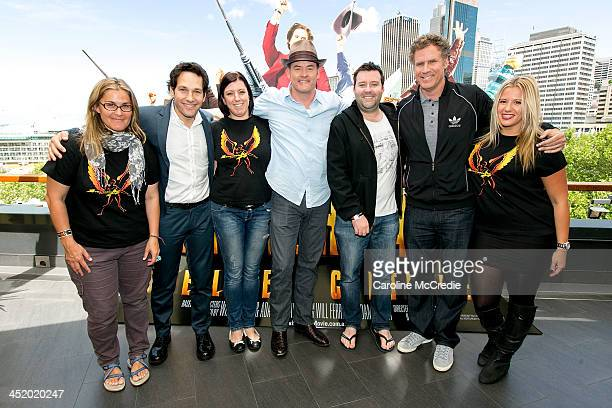 Paul Rudd David Koechner Will Ferrell and guests attend the 'Anchorman 2 The Legend Continues' sausage sizzle fan event on November 26 2013 in Sydney...