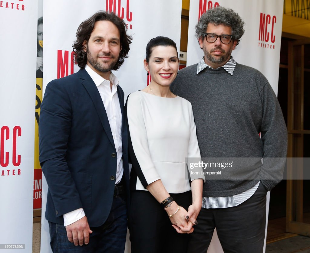 Paul Rudd Julianna Margulies and Neil LaBute attend 'The Mercy Seat' Benefit Reading at Lucille Lortel Theatre on June 17 2013 in New York City