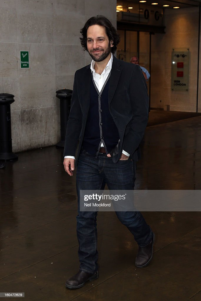 <a gi-track='captionPersonalityLinkClicked' href=/galleries/search?phrase=Paul+Rudd&family=editorial&specificpeople=209014 ng-click='$event.stopPropagation()'>Paul Rudd</a> seen at BBC Radio One on February 1, 2013 in London, England.