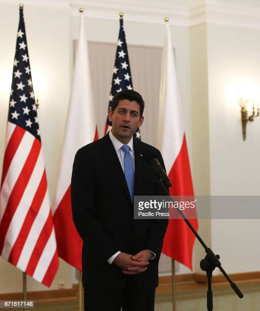 Paul Ryan the Speaker of the United States House of Representatives at the presidential palace Ryan was accompanied by 15 other members of Congress...