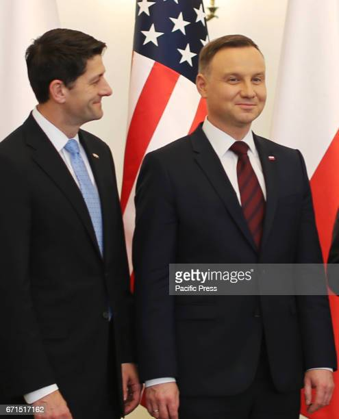 Paul Ryan the Speaker of the United States House of Representatives met with Polish President Andrzej Duda at the presidential palace Ryan was...