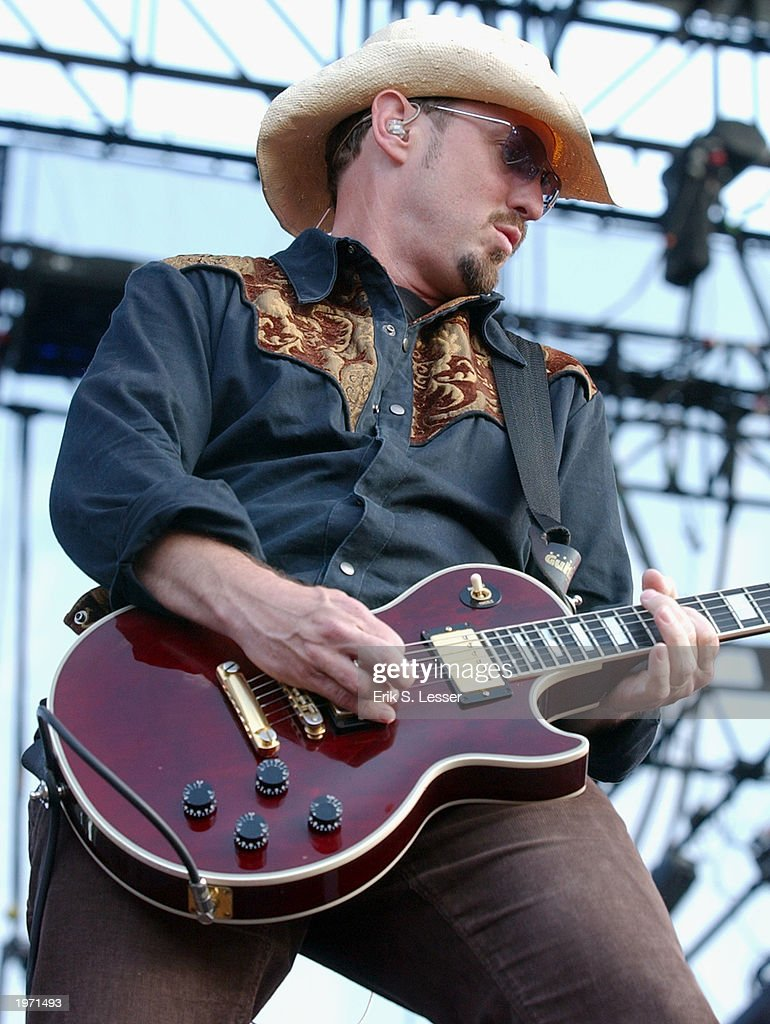 Paul Sanchez, guitarist for the band Cowboy Mouth, performs during the10th Annual Music Midtown festival May 3, 2003 in Atlanta, Georgia. The three-day music festival features a variety of national acts.