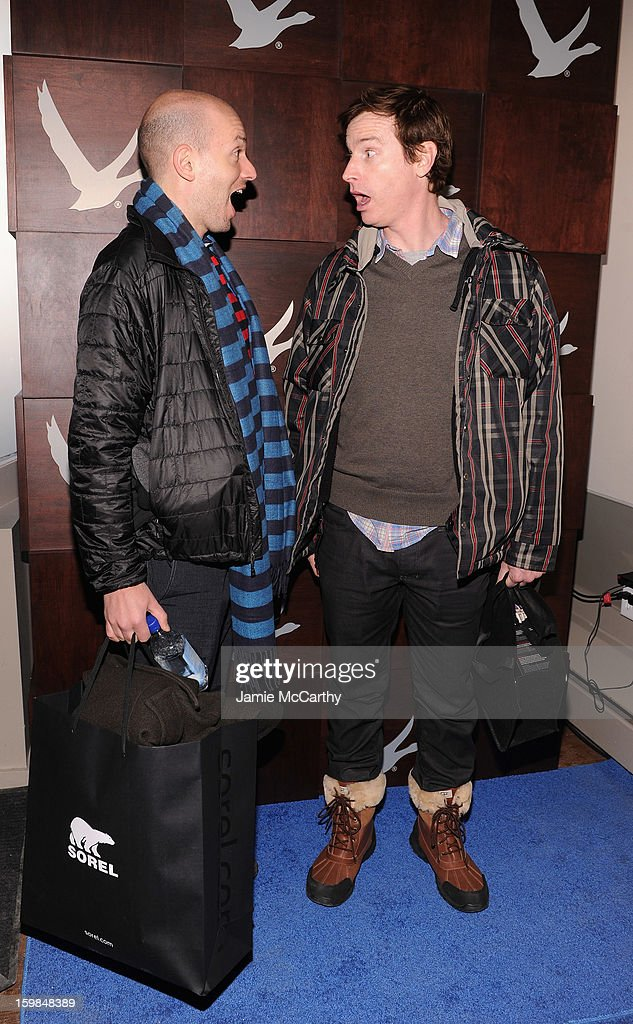 Paul Scheer and Rob Huebel at Grey Goose Blue Door on January 21, 2013 in Park City, Utah.