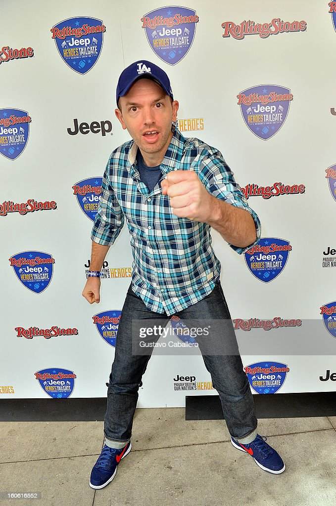 <a gi-track='captionPersonalityLinkClicked' href=/galleries/search?phrase=Paul+Scheer&family=editorial&specificpeople=805513 ng-click='$event.stopPropagation()'>Paul Scheer</a> attends the Rolling Stone Hosted Jeep Heroes Tailgate on February 3, 2013 in New Orleans, Louisiana.