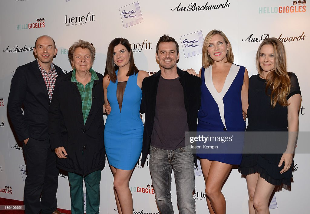 Paul Scheer, Sandy Martin, Casey Wilson, Chris Nelson, June Diane Raphael and Alicia Silverstone attend the premiere of Gravitas Ventures' 'Ass Backwards' at the Vista Theatre on October 30, 2013 in Los Angeles, California.