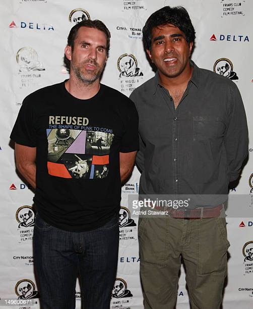 Paul Schneider and Jay Chandrasekhar attend 'The Babymakers' New York Screening at New York Friars Club on July 31 2012 in New York City