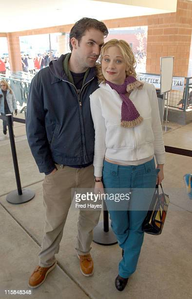Paul Schneider And Zooey Deschanel during 2003 Sundance Film Festival 'All The Real Girls' Premiere at Eccles in Park City Utah United States