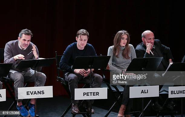 Paul Schneider Ben McKenzie Rachel Brosnahan and Paul BenVictor performs at the Black List Live Presents I Believe in America at SVA Theater on...