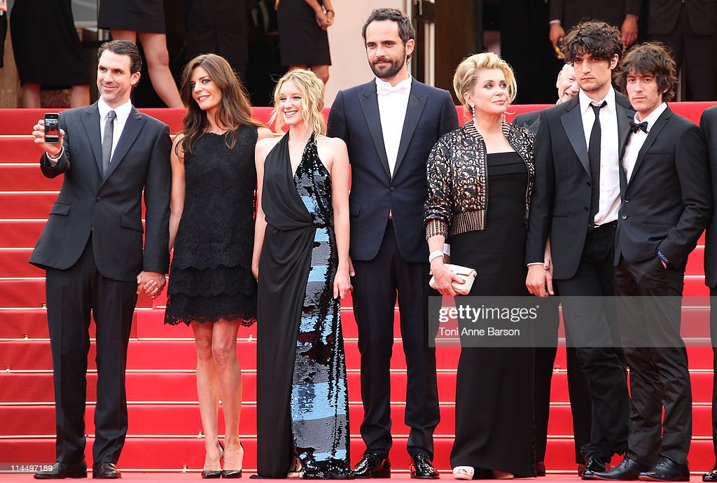 Paul Schneider, Chiara Mastroianni, Ludivine Sagnier, Rasha Bukvic, Catherine Deneuve and Louis Garrel attend the 'Les Bien-Aimes' Premiere and Closing Ceremony during the 64th Annual Cannes Film Festival at the Palais des Festivals on May 22, 2011 in Cannes, France.
