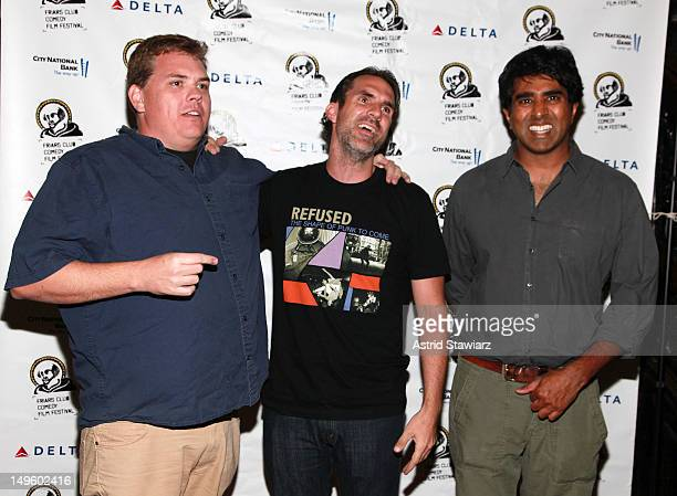 Paul Schneider Kevin Heffernan and Jay Chandrasekhar attend 'The Babymakers' New York Screening at New York Friars Club on July 31 2012 in New York...