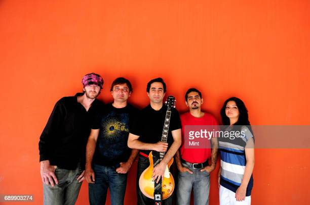 Paul Schneiter Salman Malik Taimur Rahman Haider Rahman and Mahvash Waqar of Pakistani band Laal photographed during their India tourThe band first...