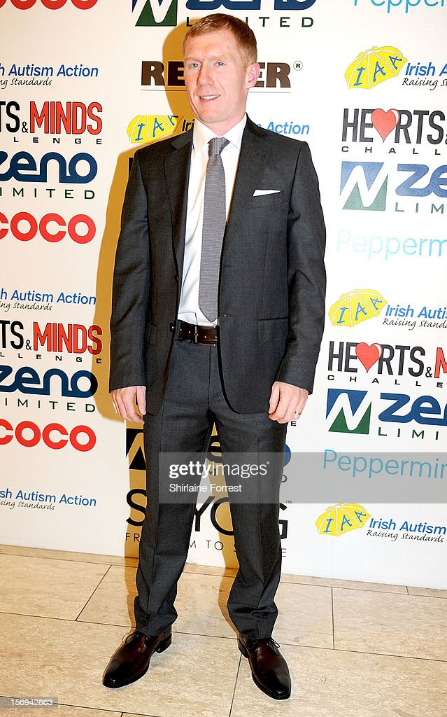 Paul Scholes attends the Hearts and Minds charity ball at Hilton Hotel on November 25, 2012 in Manchester, England.
