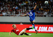 Paul Scholes of Manchester United in action during the Friendly Match between Shanghai Shenhua and Manchester United at Shanghai Stadium on July 25...