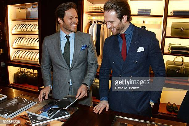 Paul Sculfor and Craig Mcginlay attend PORT Magazine's 5th anniversary dinner with dunhill London at at Alfred Dunhill Bourdon House on April 12 2016...