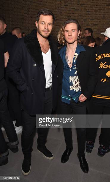Paul Sculfor and Dougie Poynter attend the British Fashion Council Fashion Film x River Island film screening and cocktail party at The Serpentine...