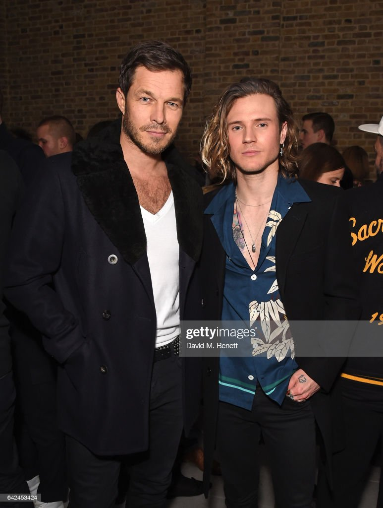 Paul Sculfor and Dougie Poynter attend the British Fashion Council Fashion Film x River Island film screening and cocktail party at The Serpentine Sackler Gallery on February 17, 2017 in London, England.