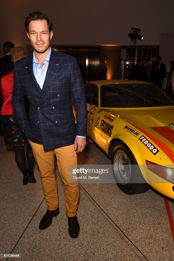 Paul Sculfor attends a private view of the 'Ferrari: Under The Skin' exhibition hosted by Deyan Sudjic and Alice Black, Directors of the Design Museum on November 14, 2017 in London, England.