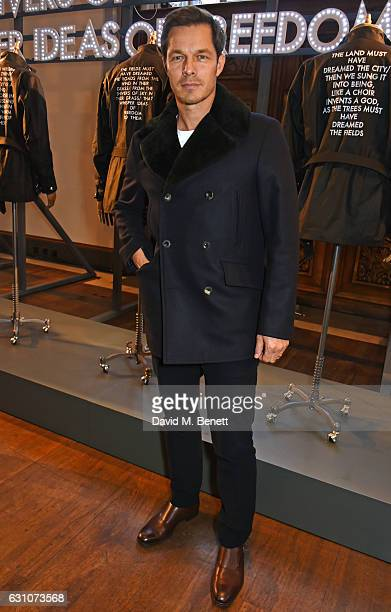 Paul Sculfor attends the Barbour International presentation during London Fashion Week Men's January 2017 collections at RIBA on January 6 2017 in...