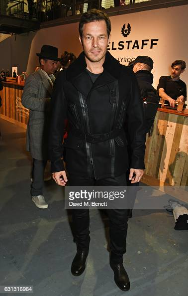 Paul Sculfor attends the Belstaff presentation during London Fashion Week Men's January 2017 collections at Ambika P3 on January 9 2017 in London...