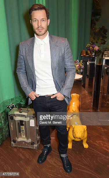 Paul Sculfor attends the LATHBRIDGE by Patrick Cox presentation and official launch during London Collections Men SS16 at Sketch on June 15 2015 in...
