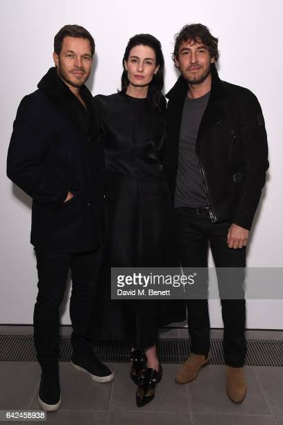 Paul Sculfor Erin O'Connor and Robert Konjic attend the British Fashion Council Fashion Film x River Island film screening and cocktail party at The...