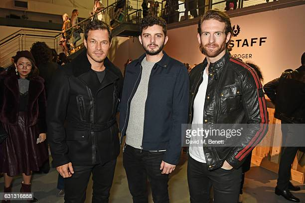 Paul Sculfor Michael C Fox and Craig McGinlay attend the Belstaff presentation during London Fashion Week Men's January 2017 collections at Ambika P3...