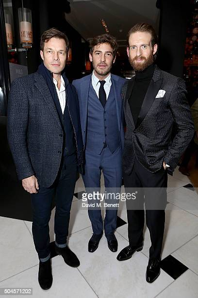 Paul Sculfor Robert Konjic and Craig McGinlay attend a reception hosted by Marks Spencer and ShortList Magazine to celebrate London Collections Men...