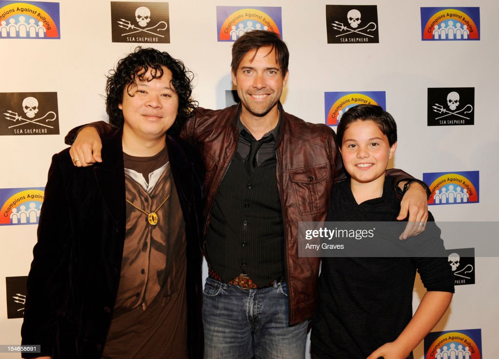 Paul Seetachitt, Andrew Bowen and Zach Callison attend the 'Rock Jocks' Screening to Celebrate Zach Callison's 15th Birthday on October 23, 2012 in Hollywood, California.