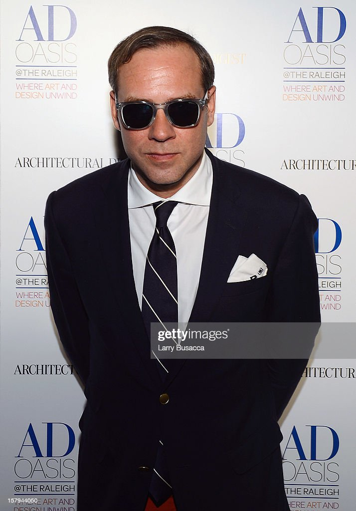 DJ Paul Sevigny arrives to AD Oasis & Sunbrella host Cocktail Party Celebrating AD100 Designer Mark Cunningham at The Raleigh on December 7, 2012 in Miami, Florida.
