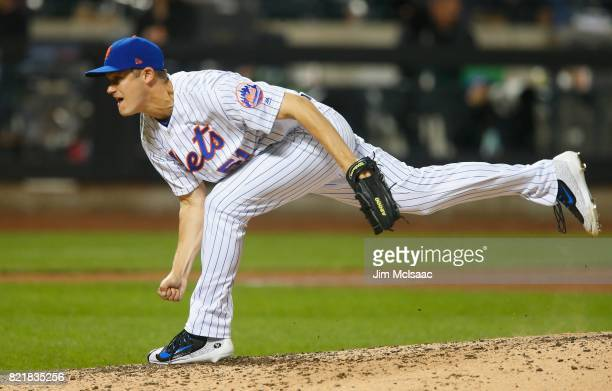 Paul Sewald of the New York Mets in action against the Washington Nationals at Citi Field on June 16 2017 in the Flushing neighborhood of the Queens...