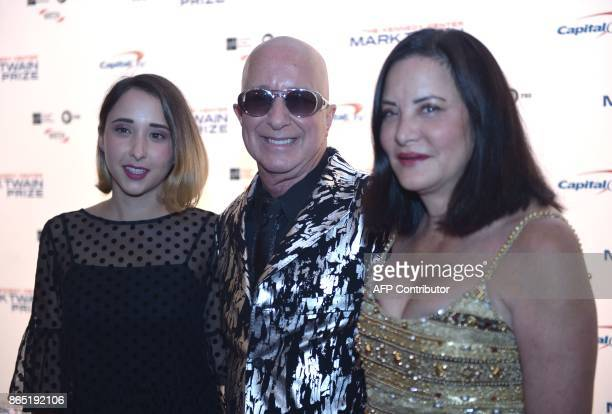 Paul Shaffer his wife Cathy Vasapoli and their daughter Victoria Lily Shaffer arrive for the 20th Annual Mark Twain Prize for American Humor honoring...