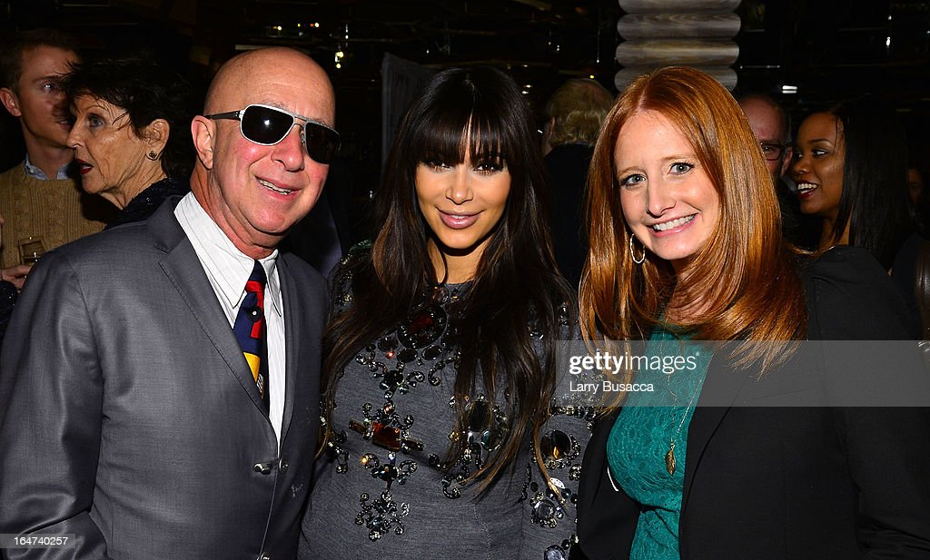 Paul Shaffer, Kim Kardashian and guest attend the DuJour Magazine Spring 2013 Issue Celebration at The Darby on March 27, 2013 in New York City.