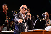 Paul Shaffer performs during the 2016 City Parks Foundation Gala at Rumsey Playfield Central Park on June 20 2016 in New York City