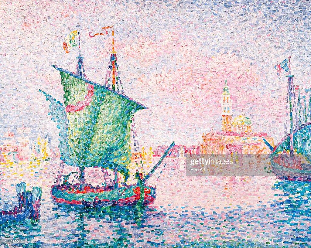 Paul Signac Venice The Pink Cloud oil on canvas Albertina Museum Vienna
