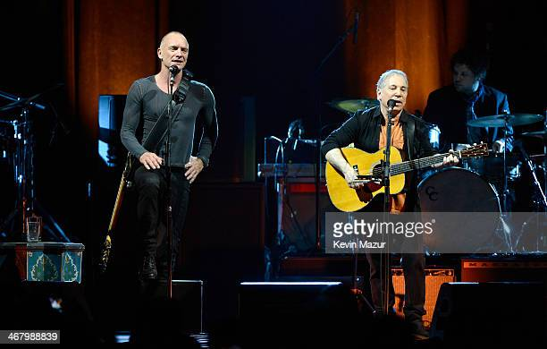 Paul Simon and Sting kicked off their 'On Stage Together' tour at the Toyota Center on February 8 2014 in Houston Texas For only 21 shows two of...