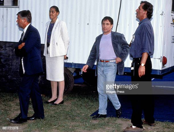 Paul Simon heading backstage during his concert in Central Park circa 1991 in New York City