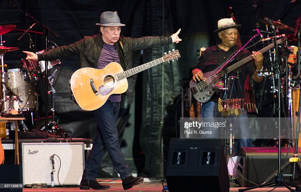 Paul Simon performs on stage at the Beale Street Music Festival on May 1, 2016 in Memphis, Tennessee.