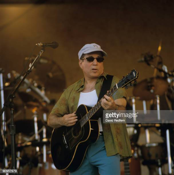 Paul Simon performs on stage at the New Orleans Jazz and Heritage Festival in New Orleans Louisiana on May 04 2001